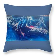 Acrylic Resin Pour Throw Pillow