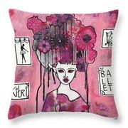 Acrylic Variations Kitri Throw Pillow