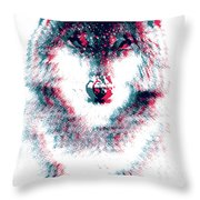 Act Like A Wolf Throw Pillow