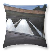 Acting Up Under The Bridge Throw Pillow