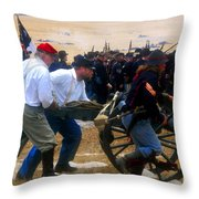 Action At The Front Throw Pillow