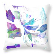 Action In Pastel Throw Pillow