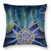 Activating The Ion Shield  Throw Pillow