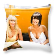Active Healthy Lifestyle Throw Pillow