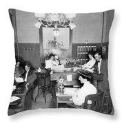 Active Office Interior Throw Pillow