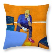 Activist At Rest Throw Pillow