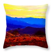 Acton California Sunset Throw Pillow