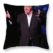 Actor And Comedian William Shatner Throw Pillow