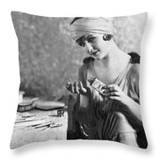 Actress Laura La Plante Throw Pillow