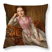 Actress Therese Krones Throw Pillow