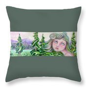 Acts Of Creation Throw Pillow