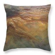 Acylic Pour Throw Pillow