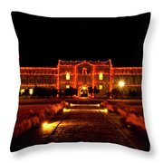 Ad Building Throw Pillow