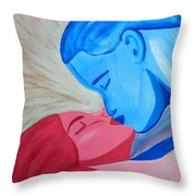 Adam And Eve Close Up Throw Pillow