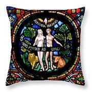 Adam And Eve, Dinant Throw Pillow