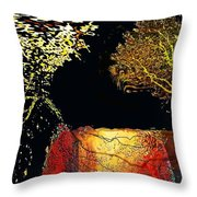 Adam And Eve Were Here. Throw Pillow