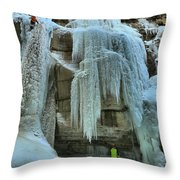 Adam Jewell At Maligne Canyon Throw Pillow