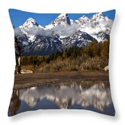 Adam Jewell At Schwabacher Landing Throw Pillow