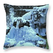 Adam Jewell Hiking In Maligne Canyon Throw Pillow