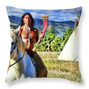 Adam Joaquin Gonzalez Throw Pillow