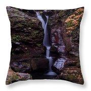 Adams Falls Pa Autumn Throw Pillow
