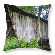 Adams/san Toy Covered Bridge  Throw Pillow