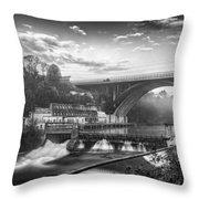 Adda Dam Throw Pillow