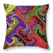 Added Colors Throw Pillow