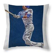 Addison Russell Chicago Cubs Art Throw Pillow