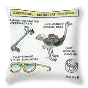 Additional Manafort Purchases Throw Pillow