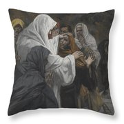Address To Saint Philip Throw Pillow by Tissot