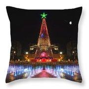 Adelaide Christmas Lights  Vg Throw Pillow