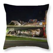 Adelaide Riverbank At Night II Throw Pillow