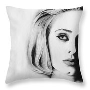 Adele. Throw Pillow
