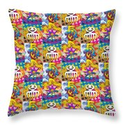 Adinkra Quilt 1 Throw Pillow