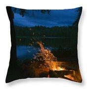 Adirondack Campfire Throw Pillow