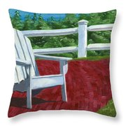 Adirondack Chair On Cape Cod Throw Pillow