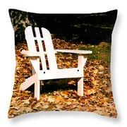 Adirondack Chair Throw Pillow