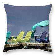 Adirondack Chairs At Coyaba Mahoe Bay Jamaica. Throw Pillow