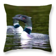 Adirondack Loon 2 Throw Pillow