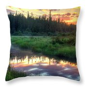 Adirondack Sunrise Throw Pillow