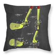 Adjustable Golf Club Throw Pillow