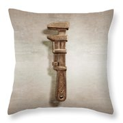 Adjustable Wrench Left Face Throw Pillow