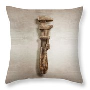 Adjustable Wrench Right Face Throw Pillow