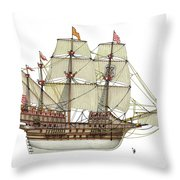 Adler Von Lubeck Throw Pillow
