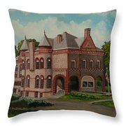 Administration Building Throw Pillow