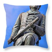 Admiral David Farragut In Farragut Square Throw Pillow