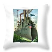 Admiral Dewey's Flagship Olympia  Throw Pillow by War Is Hell Store