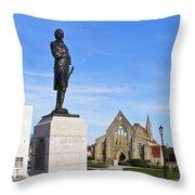 Admiral Lord Nelson And Royal Garrison Church Throw Pillow