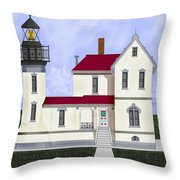 Admiralty Head Light Station Circa 1920 Throw Pillow